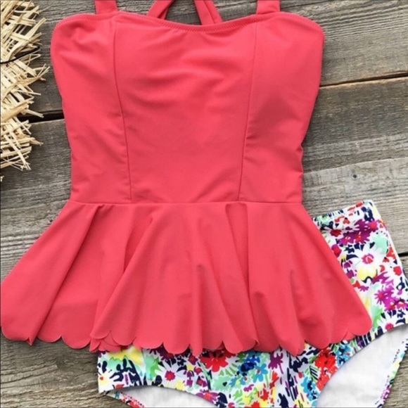 Cupshe Other - RESTOCKED! Cupshe Floral Bottom Tankini • Size M
